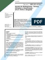 NBR 04378 - Mancais de Deslizamento - Termos Definicoes e Classificacao - Parte 2 Atrito e Desgas