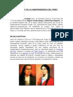 Proceres de La Independencia Del Perú