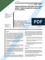 NBR 14057 - Ataduras Flexiveis Esticadas Sob Carga Padrao - Determinacao Do Numero de Fios de Tec