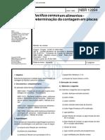 NBR 12894 - Bacillus Cereus Em Alimentos - Determinacao Da Contagem Em Placas