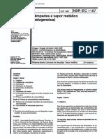 NBR ISO IEC 1167 - Lampadas a Vapor Metalico (Halogenetos)