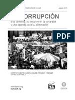 Ints. La Corrupcion. Sus Caminos Su Impacto en La Sociedad y Una Agend
