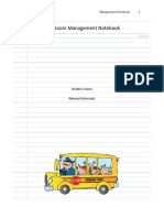 classroom management notebook