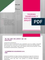 Teorías Temáticas y Síntesis de La Arquitectura