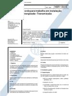 NBR 13018 - Corda Para Trabalho Em Instalacao Energizada - Transmissao