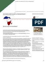 Negronews – [Culture] Qu'Est Ce Que La Françafrique