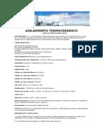 Ficha Tecnica Aislamiento Termoceramico