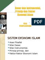 Nilai Dasar, Prinsip Ekonomi Islam