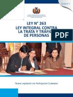 Ley Integral Contra La Trata y Tráfico de Personas
