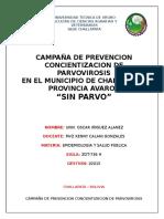 Campaña de Prevencion Concientizacion de Parvovirosis