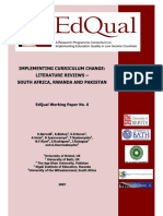 Curriculum Change in s Africa, Rwanda and Pakistan[1]