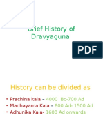 Brief History of Dravyguna