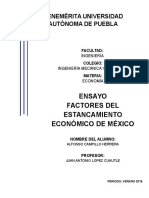 Ensayo. Estancamiento Economico en Mexico