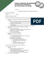Quantitative Methods for IT
