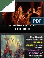 II- Origin of the Church
