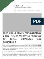 Como Enviar Correos Masivos Personalizados Con Thunderbird