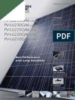 PV-UJ225GA6 Data Sheet