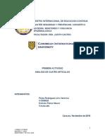Analisis de Articulos de Vigilancia Epidemiologica