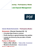 Modarabah and Deposit Management