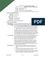UT Dallas Syllabus for sce5v06.0t1.10u taught by Rebekah Nix (rnix)