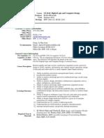 UT Dallas Syllabus for cs4341.0u1.10u taught by Rekha Bhowmik (rxb080100)