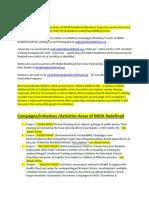 Campaigns,Initiatives,ActivitiesAreasofINDIARedefined