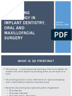 3d Printing Technology in Oral and Maxillofacial Surgery
