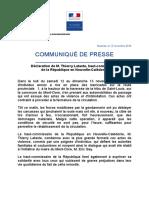 20161113 Declaration Du Haut Commissaire