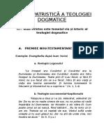 3. Istoria Patristică a Teologiei Dogmatice