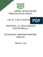 Las Tic´s en la educación