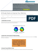 20 Study Hacks to Improve Your Memory - ExamTime
