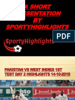 A Short Presentation by Sporty Highlights