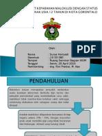 Hubungan Tingkat Keparahan Maloklusi Terhadap Status Karies Gigi Pada Aak Usia 12 Tahun Di Kota Gorontalo