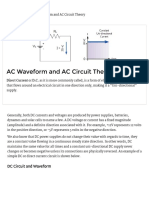 AC Waveform and AC Circuit Theory of Sinusoids
