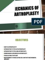 Biomechanics of Arthoplasty 1
