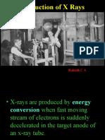 Production of Xrays Generators