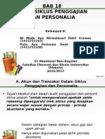 Ppt Bab 18 Audit Siklus Penggajian Dan Personalia