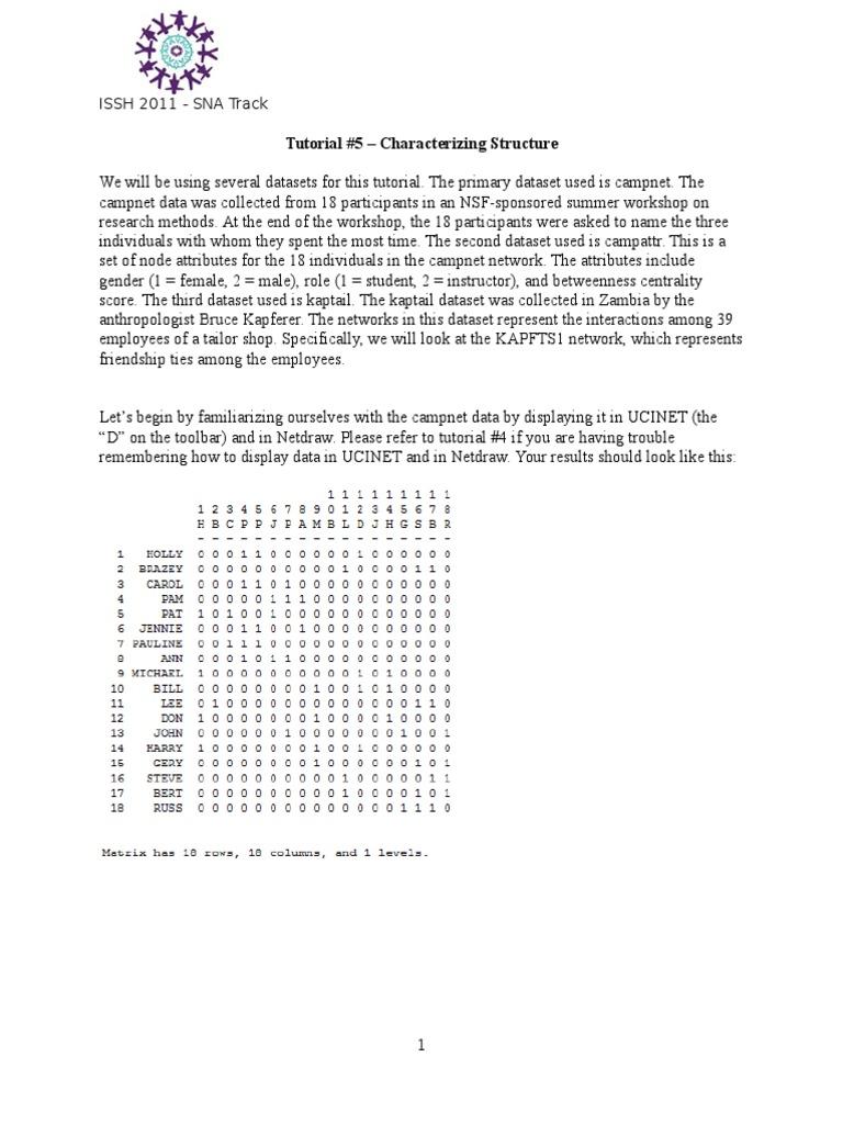 Tutorial 5 Network Structure (4)   Applied Mathematics