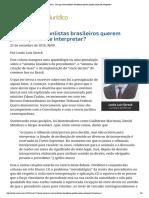 Lênio Streck - Precedentes