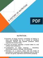 A History of Nutrition (Kuliah 1)