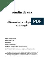 Studiu de Caz la romana clasa a11a sociologie
