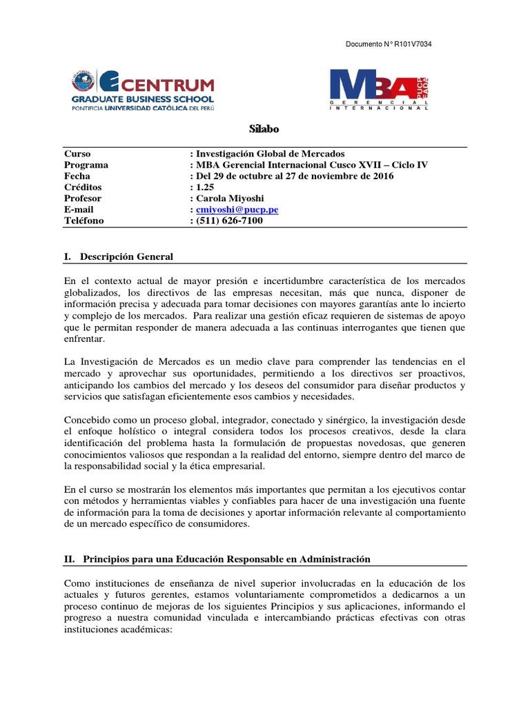 160621 MBA G - Investigación Global de Mercados