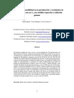 Estudio de Radiosensibilidad en La Germinación y Crecimiento de La Arveja Pisum Sativum L, Con Semillas Expuestas a Radiación Gamma