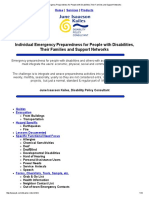 Individual Emergency Preparedness for People With Disabilities,Their Families and Support Networks