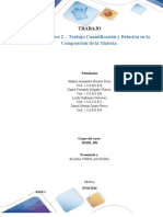 Trabajo Colaborativo – Trabajo Cuantificación y Relación en La Composición de La Materia.