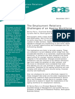 The Employment Relations Challenges of an Ageing Workforce