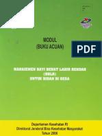Buku Modul Manajemen Bblr Untuk Bidan Desa