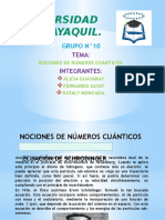 Nociones de Numeros Cuanticos. Grupo N_10 Quimica
