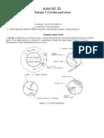 AutoCAD 2D Module 07 PDF Circles Arcs