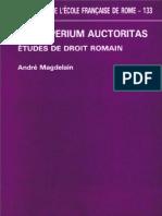 Jus Imperium Auctoritas. Études de Droit Romain_André Magdelain